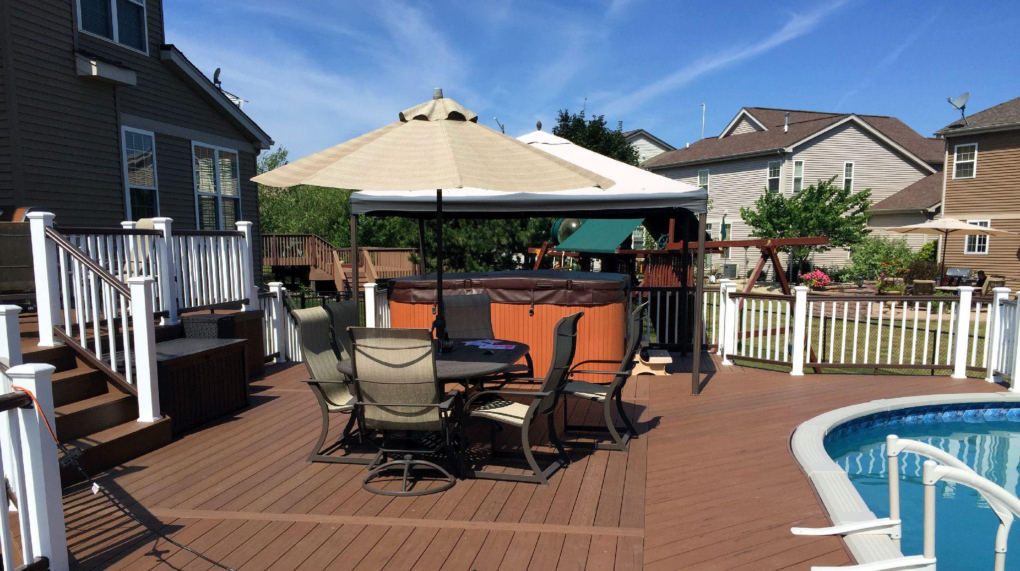 Composite Pool Deck Design By Chicago Suburb Deck Builder Deck