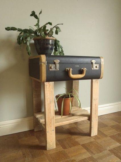 Muebles con objetos reciclados Reciclado, Maletas y Maletas viejas - muebles reciclados