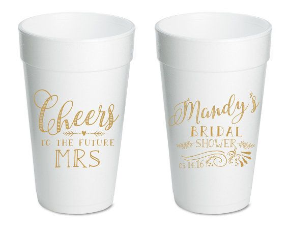 bridal shower cups cheers to the future mrs bridal shower favors wedding cups reception favors wedding