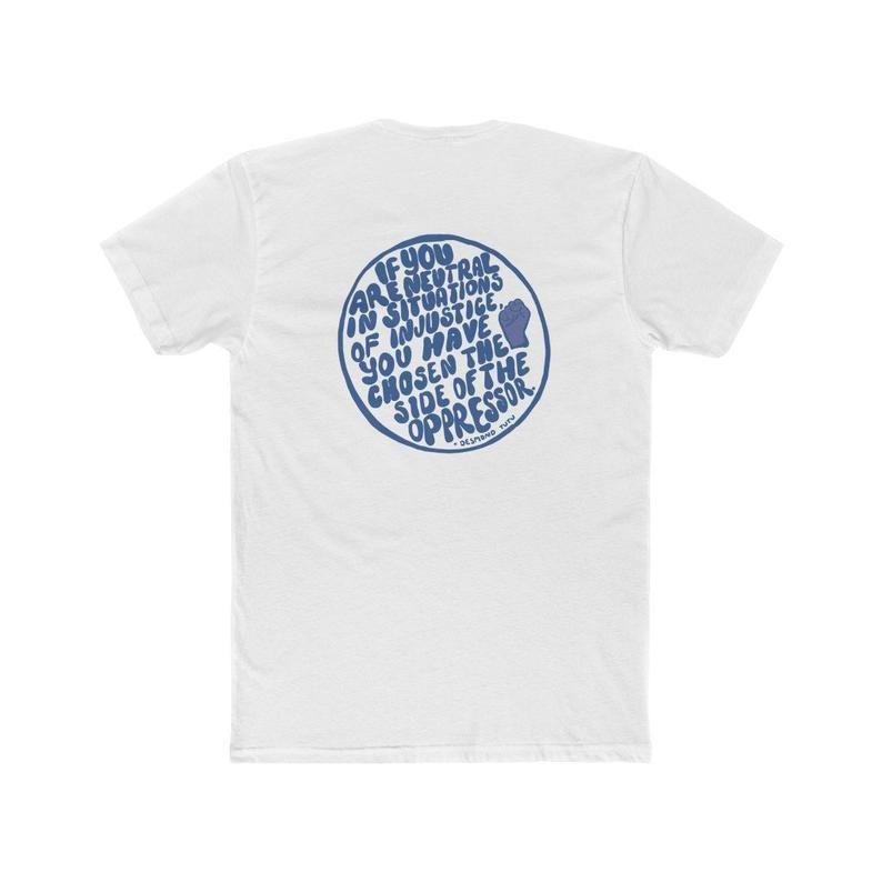 Artistic Desmond Tutu Quote Shirt Social Justice Blm Shirt Etsy Shirts With Sayings Tutu Quote Desmond Tutu Quotes