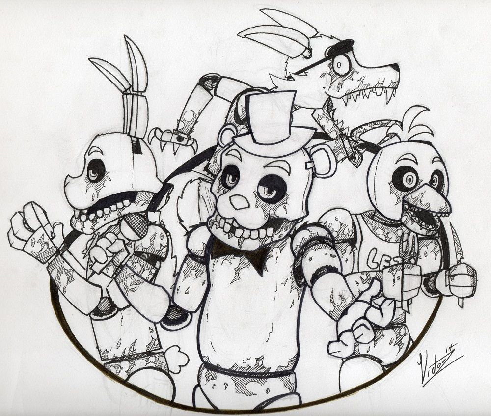 Five Nights At Freddy S Coloring