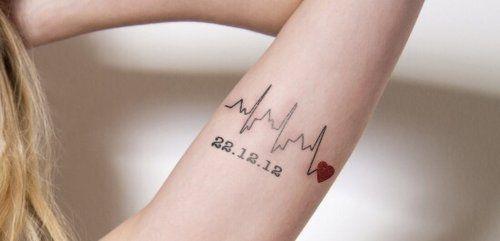 sweet heartbeat tattoo baby name tattoo pinterest. Black Bedroom Furniture Sets. Home Design Ideas