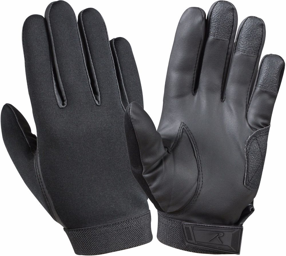 Black Waterproof Multi Purpose Cold Weather Neoprene Rubber Shooting Gloves   Rothco 30e6aac8e5c