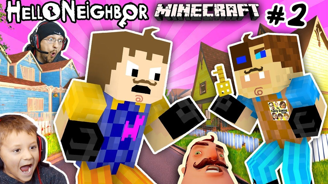 Minecraft Hello Neighbor His Brother Fight 4 Basement Key Fgteev Scary Roleplay Games For Kids 2 Great Hello Neighbor Games For Kids How To Play Minecraft [ 720 x 1280 Pixel ]