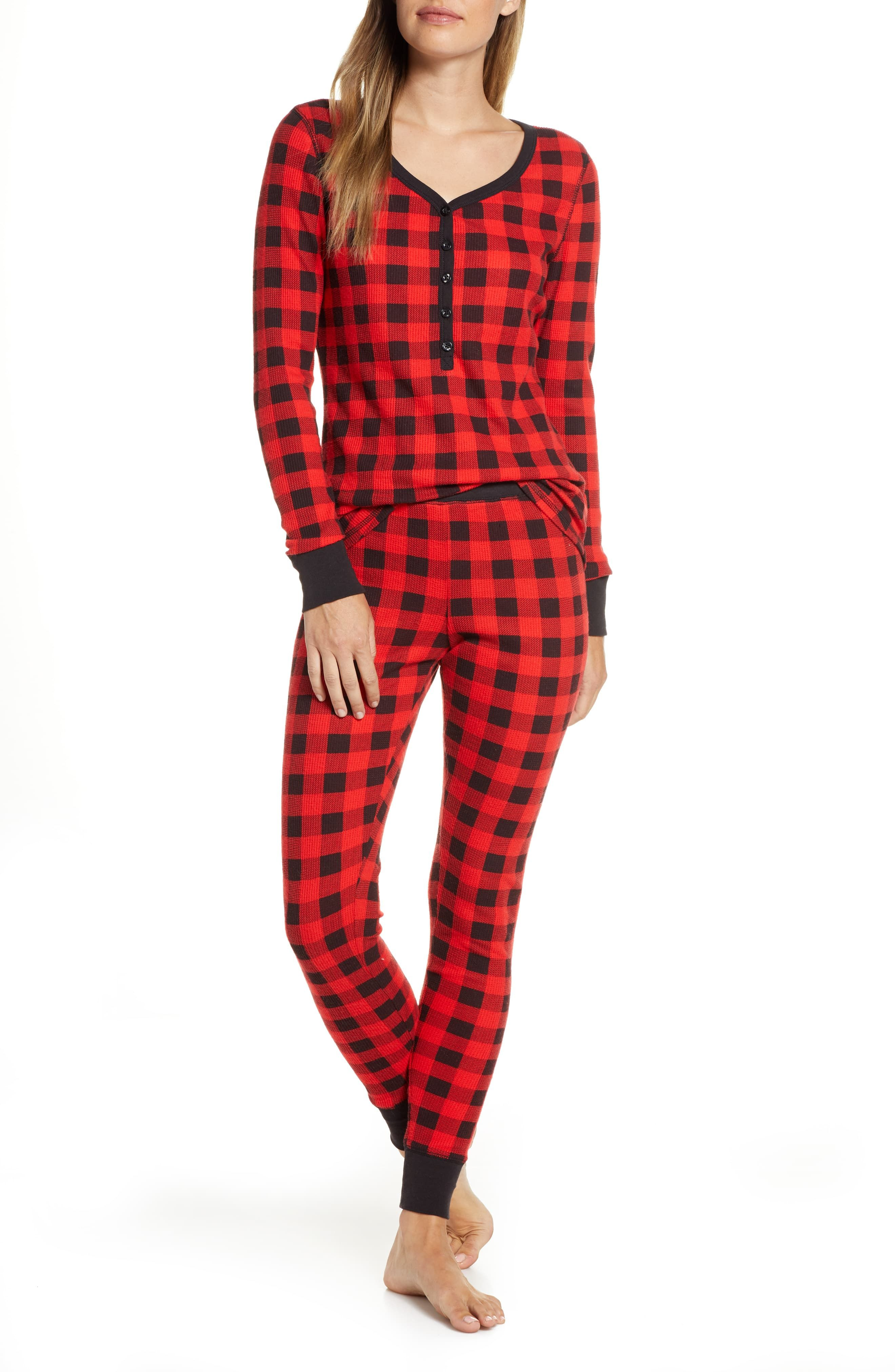 Thermal Pajamas Regular Plus Size With Images Thermal Pajamas Casual Day Outfits Pajamas Women