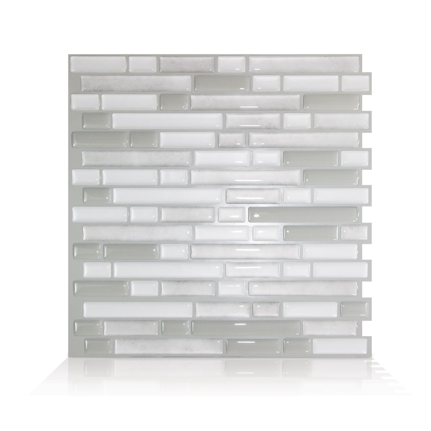 Peel And Stick Mosaic Decorative Wall Tile In Bellagio Bellagio Blanco Peel And Stick Smart Tilesespecially Designed