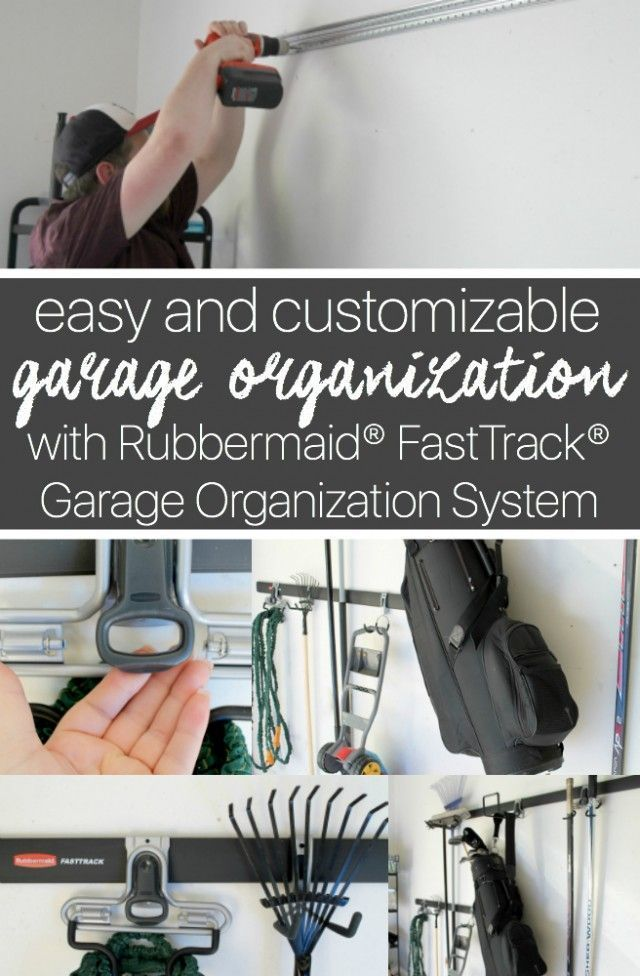 How to EASILY organize your garage with the Rubbermaid FastTrack Garage Organization System! /rubbermaid/ AD #GarageCleanUp #CollectiveBias