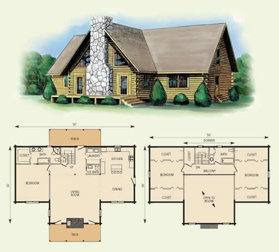 Richwood Log Home And Log Cabin Floor Plan This Would Be A Good Plan With A Basement Log Cabin Floor Plans Cabin Floor Cabin Floor Plans