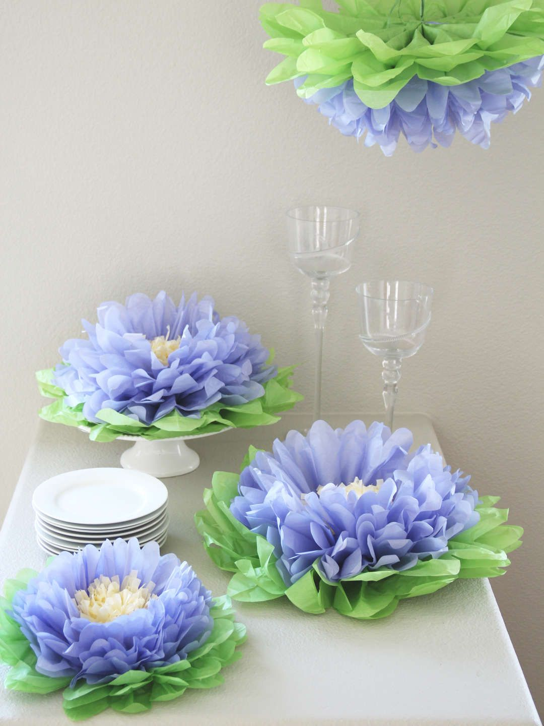 Hanging Paper Flowers By Heart To Heart At Gilt Moms Party 59