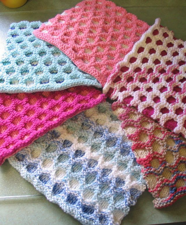 Dishcloth and Washcloth Knitting Patterns | Knit patterns, Blanket ...