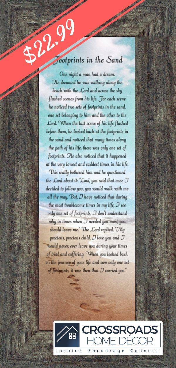 Footprints In The Sand Beach Wall Art Footprints Poem For