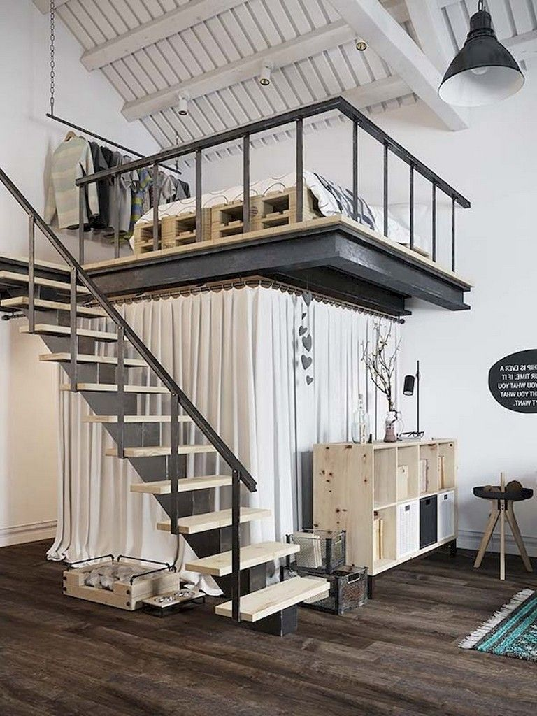 43 Awesome Tiny Apartment With Loft Space Ideas Small Loft