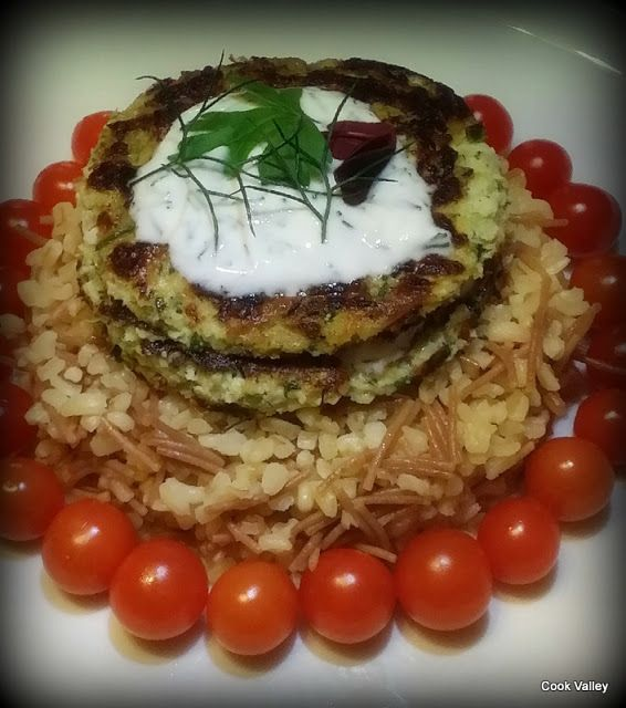 cookvalley - tanker om mad: Mucver med dild og persille - Friterede squashpandekager