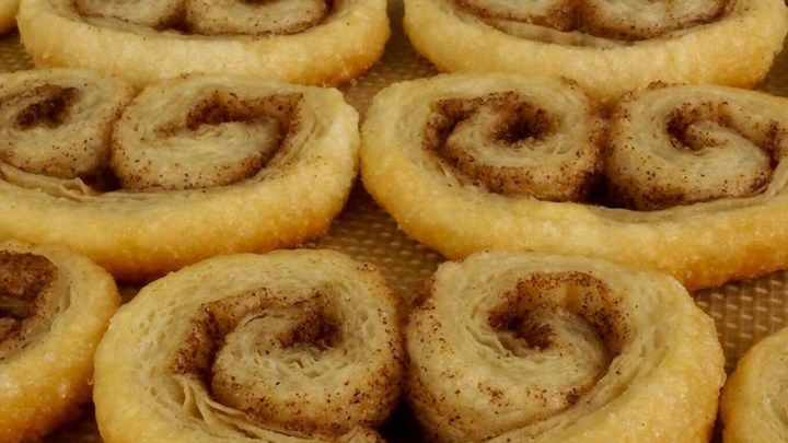 Frozen puff pastry makes it easy to whip up these crisp and cinnamony cookies.