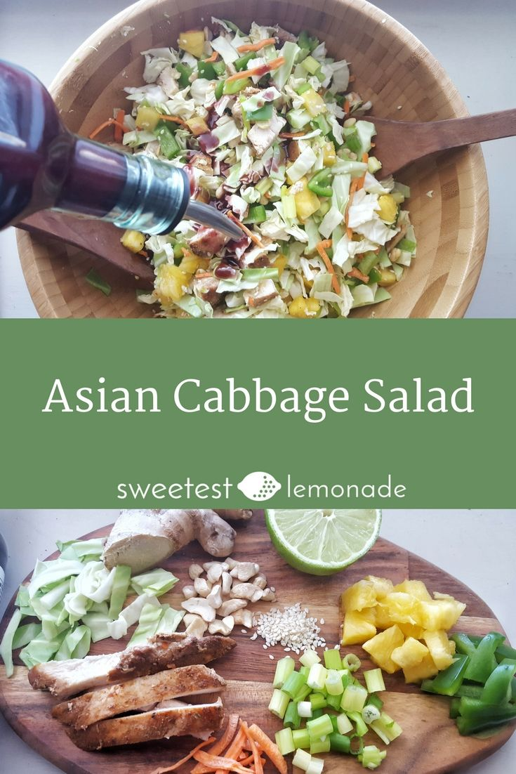Asian Cabbage Salad Recipe Easy healthy lunch recipes