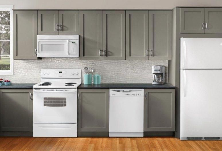 Kitchen Ideas: Decorating with White Appliances / Painted Cabinets