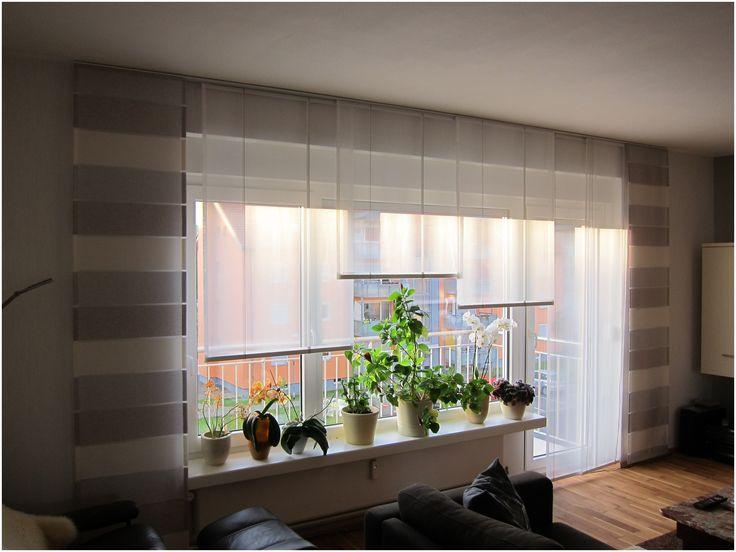 Vorhänge, Wohnzimmerfenster und Balkontür | Gardinen ...