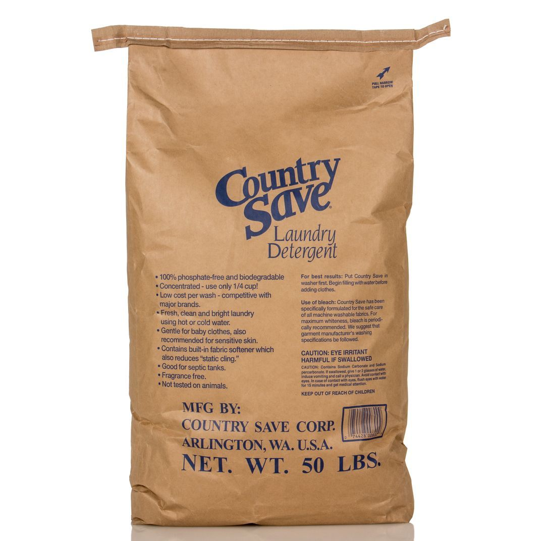 50 Lb Bag Of Country Save Laundry Detergent In Paper Packaging