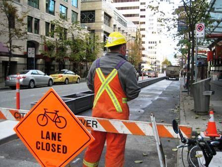 bike path works