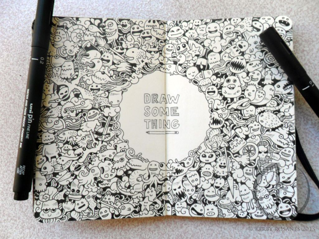 Libretas De Dibujo De Un Artista Freelance: MOLESKINE DOODLES: DRAW SOMETHING By Kerbyrosanes On