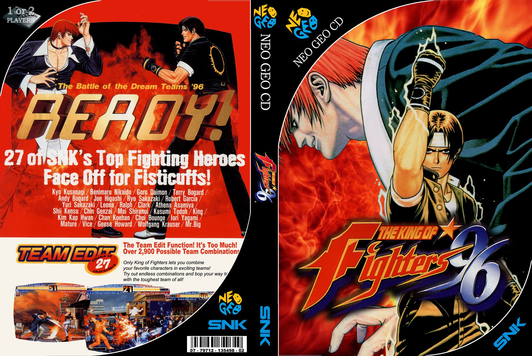 The King Of Fighters 96 Custom Cover King Of Fighters Neo