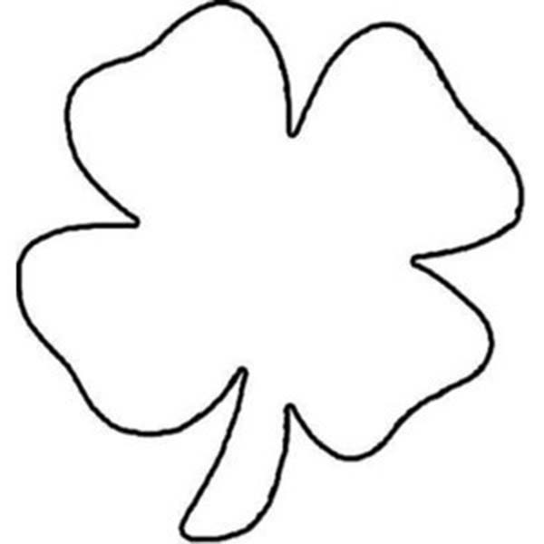 Childrens Drawing Of Four Leaf Clover Coloring Page Color Luna