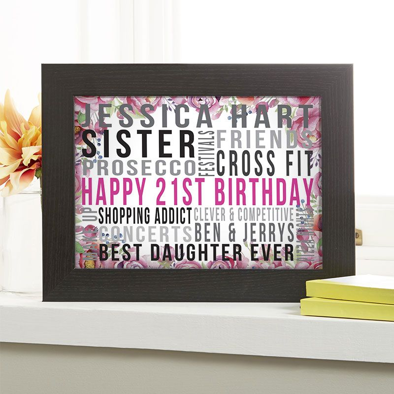 21st Birthday Gift For Her Of Favourite Things Wild Flowers Colour Option Beautiful