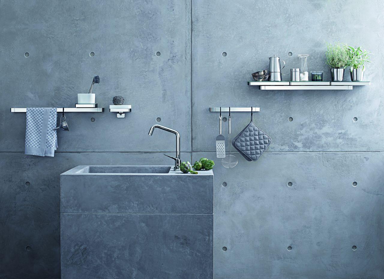 Axor universal design planken en accessoiresysteem voor de keuken