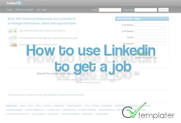 How to Use LinkedIn to Get a job - CVtemplater Helpful info - linkedin resume template
