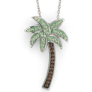 Sterling silver crystal palm tree pendant polyvore jewelry sterling silver crystal palm tree pendant polyvore mozeypictures Choice Image