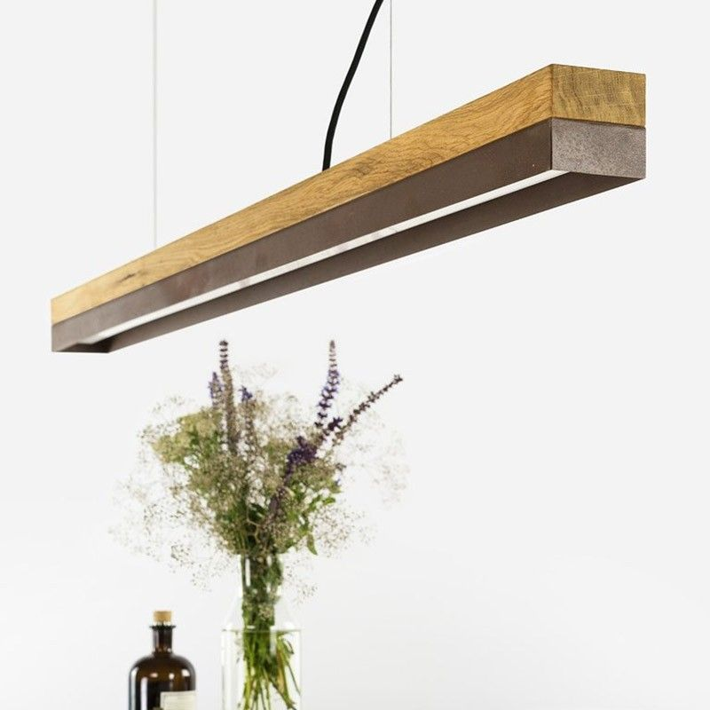 [C1o] Pendant Light Oak & Corten - Lighting
