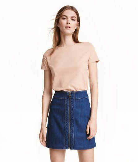 Cotton T-shirt | Powder beige | Ladies | H&M US