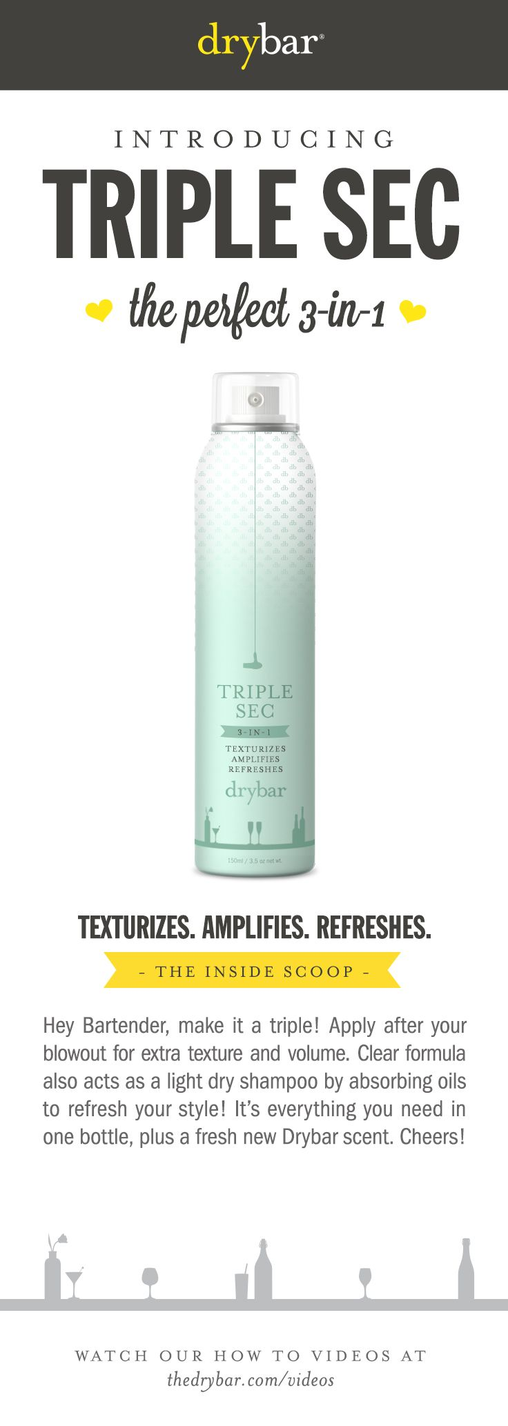 Hair Drybar TripleSec Beauty Sephora Make up Pinterest