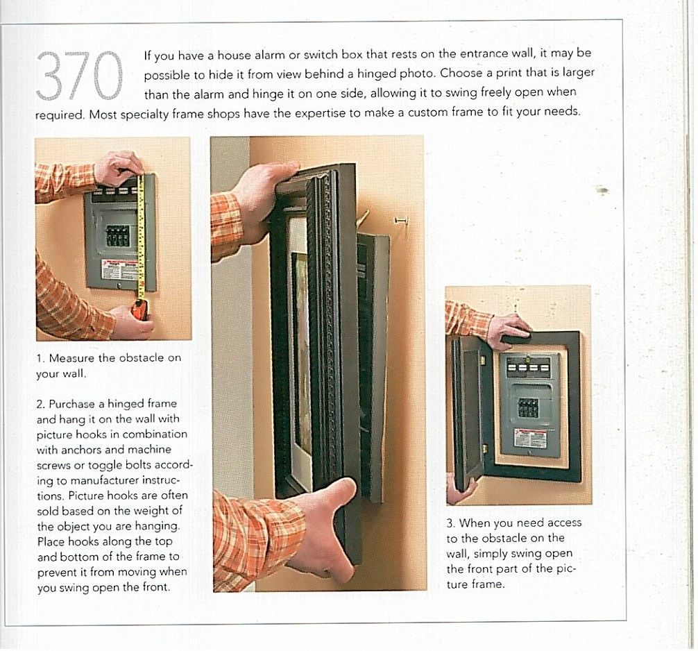 What a good way to hide the electrical panel!   For the Home ...
