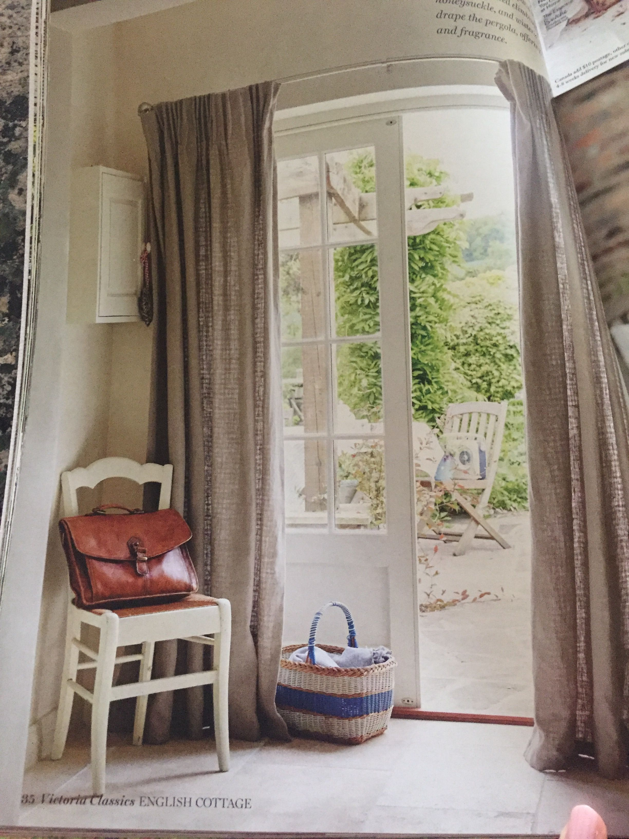Curtain over French door French doors, Interior, Curtains