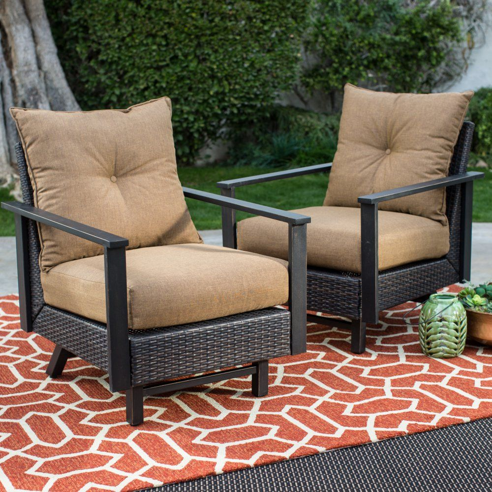 Belham Living Livingston Stationary Rocker Chat Set Of 2 Conversation Patio Sets At