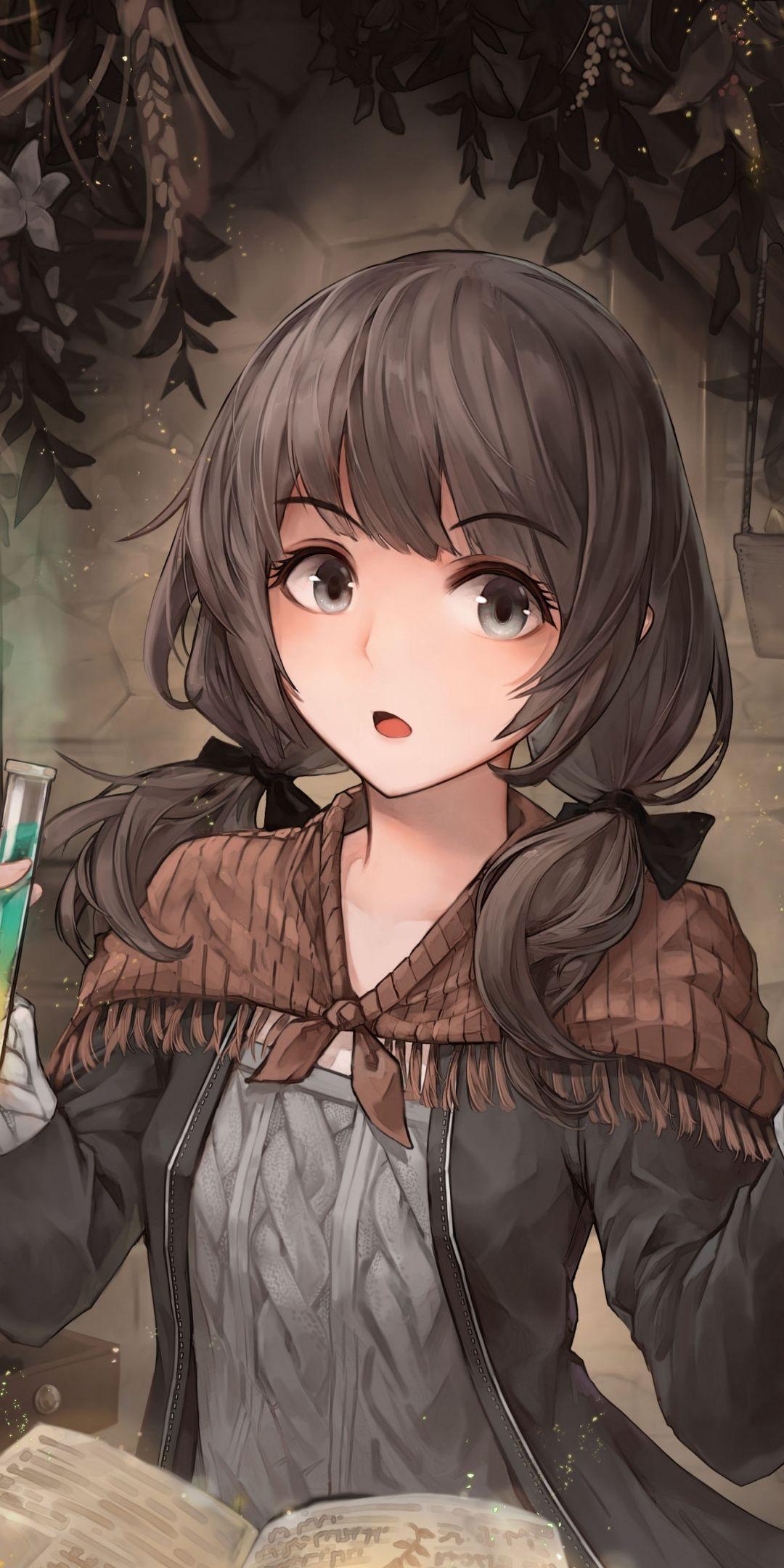Curious Wizard Fantasy Anime Girl Art 1080x2160