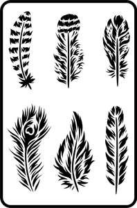 Feathers - Jami Ray Vintage Stencil