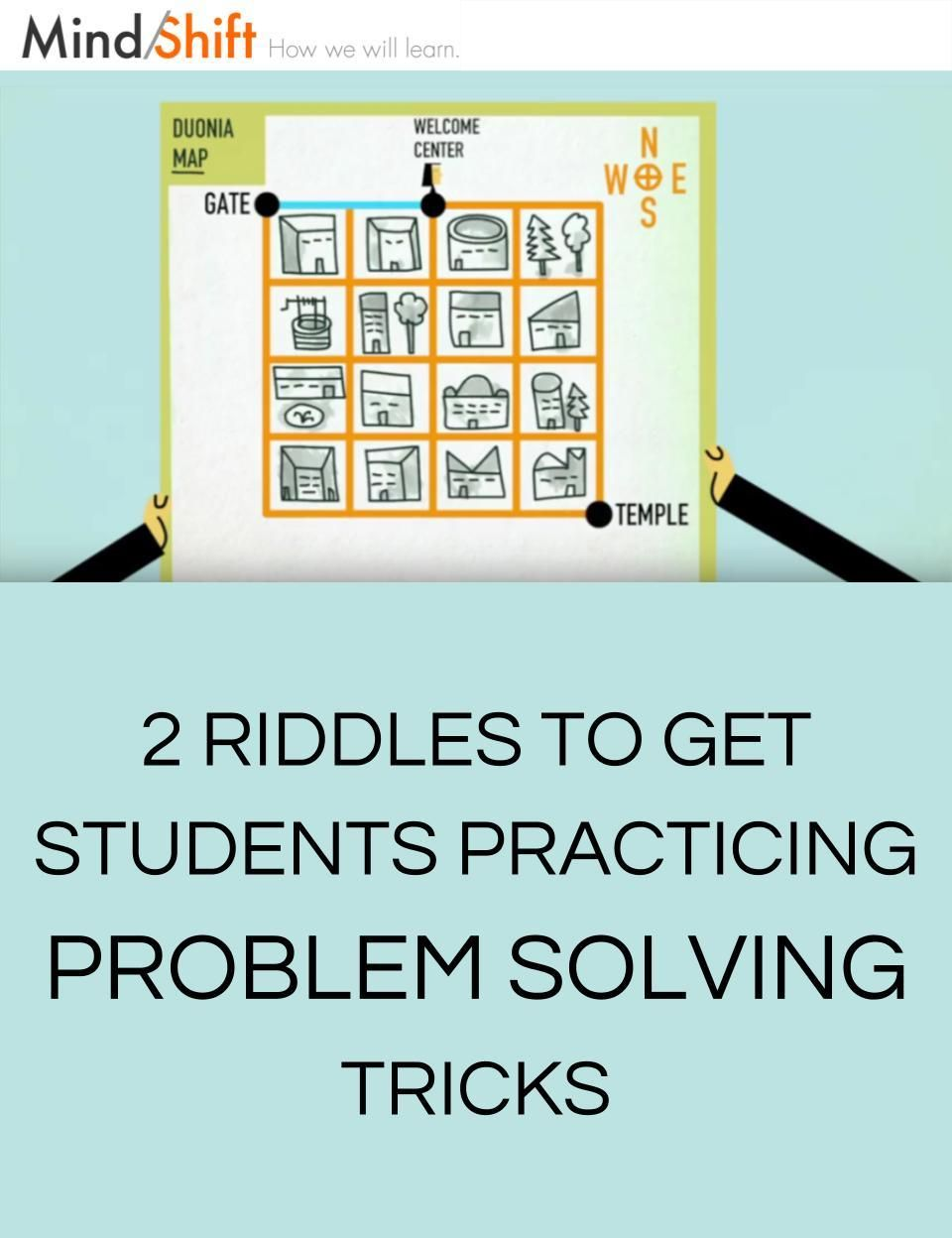 Two Riddles To Get Students Practicing Problem Solving Tricks
