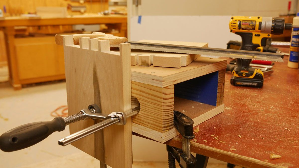 turn your kitchen table into a workbench with these homemade