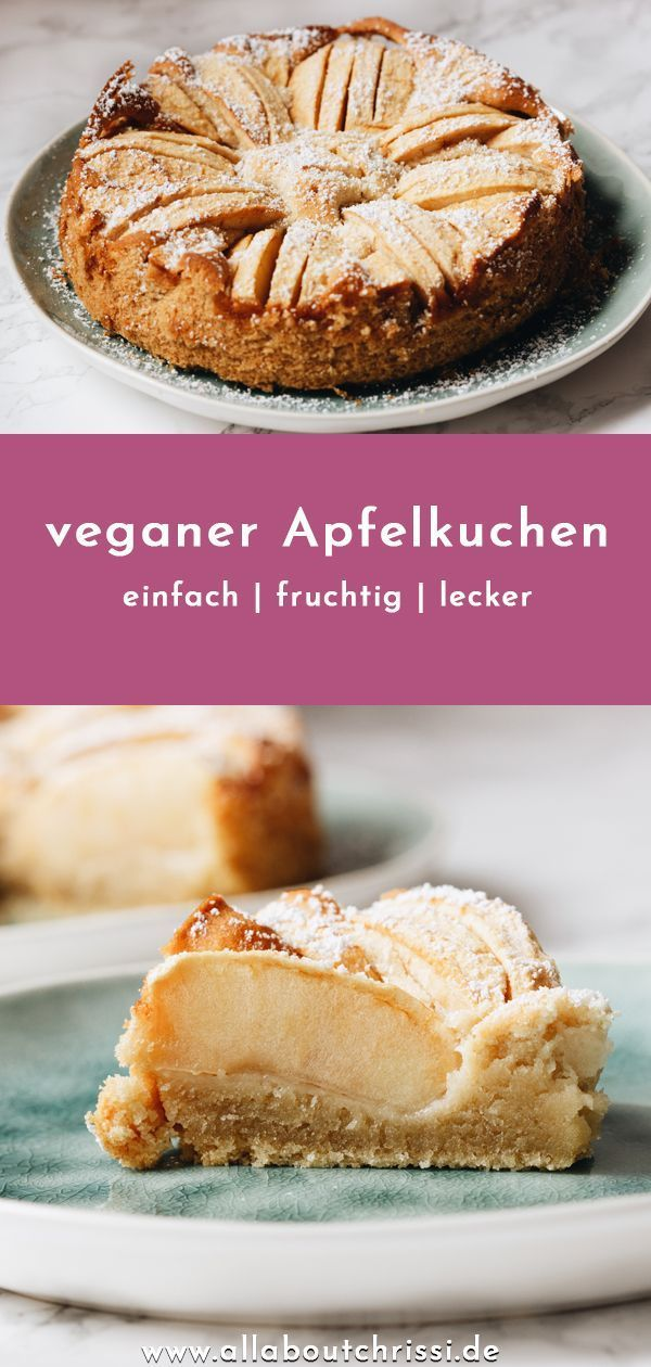 After the vegan chocolate cake, the recipe for the vegan apple cake follows, which I successfully tested for my birthday party. The vegan apple pie is nice and sweet and fruity. It was also prepared very quickly. #apple #apple pies #cake #chocolate #lemon pies #pies recipes #recipe #torten #torten dekorieren #torten rezepte #vegan