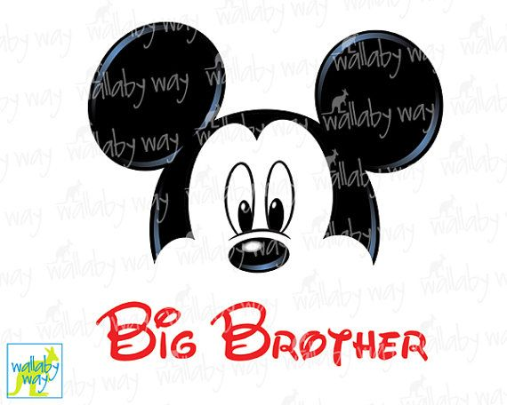 Mickey Mouse BIG BROTHER Printable Iron On By TheWallabyWay Disneyland Shirts Disney