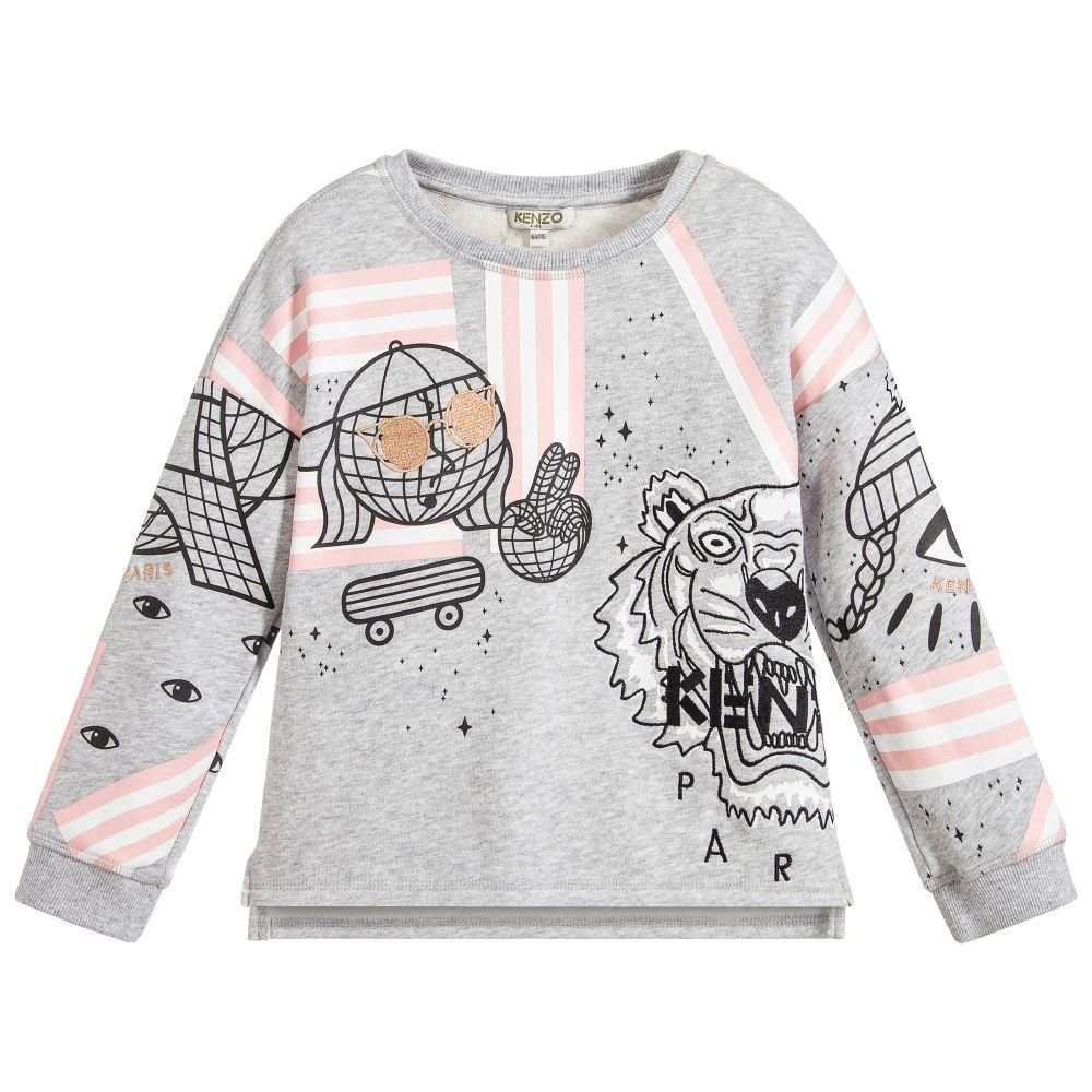 dc61f51e7e2 Cosmic' Pullover Sweatshirt in Light Grey - 2T | Products | Printed ...