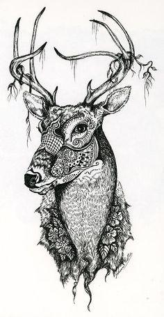 Deer Mandala Tattoo