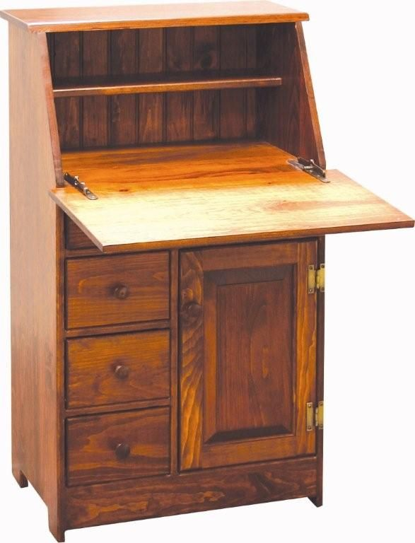 Amish Small Pine Secretary Desk Apartment Secretary Desks