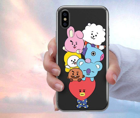39dcc7bb4fa bt21 bts character iPhone X case, iPhone 7 Plus case, iPhone 7 case, iphone  XS Max case, bts krop, i