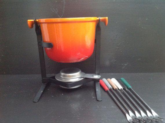 Volcanic Orange 1970's Le Creuset Enzo Mari by Onmykitchentable