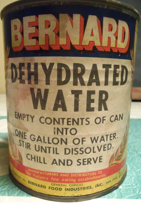 Bernard dehydrated water vintage joke gag gift   Pinterest