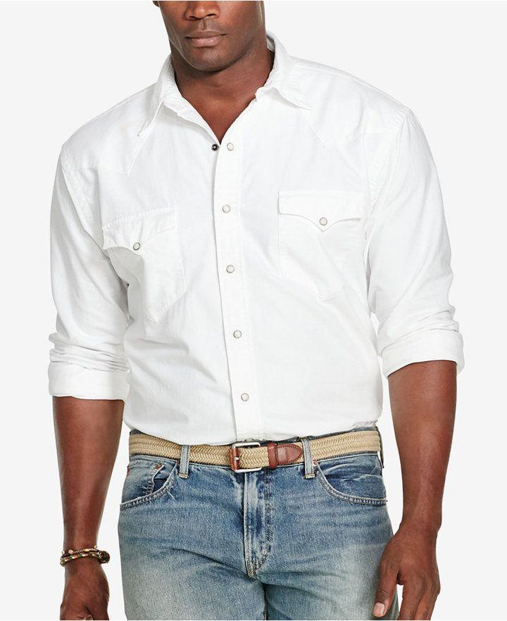 f4ca90ae9 Polo Ralph Lauren Men s Big   Tall Oxford Western Sport Shirt ...