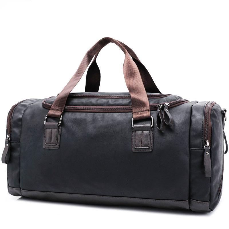Vegan Leather Duffle Bag Leather Pu Duffle Followme Fashiondiaries Unisex Trailbl Leather Travel Bag Men Fashion Travel Bag Crossbody Bags For Travel